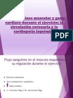 Flujo Sanguineo Muscular y Cardiaco