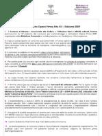 Regolamento Opera Prima Atto XII - 2009