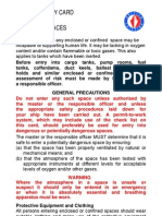 Marine Safety Card