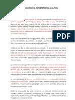 El Aprovechamiento Hidroenergetico en El Peru
