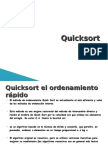 ordenacion quicksort