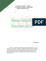 Sistemul Cheltuielilor re Publice
