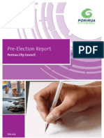 Pre Election Report 2013