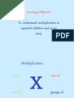 Multiplication Repeated Arrays