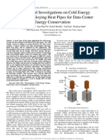 Experimental Investigations on Cold Energy Storage Employing Heat Pipes for Data Center Energy Conservation