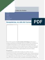 ESCAPULARIOS No Solo Del Carmen.[1]