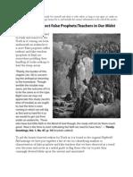 Ten Ways to Detect False Prophets/Teachers
