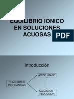 Equilibrio Ionico (Clase 9)