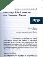 De Garine Igor - Antropología de la Alimentación. Entre naturaleza y cultura