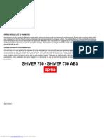 Aprilia Shiver 750 User Manual
