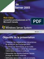 Session 4 Protection de Exchange Server 2003