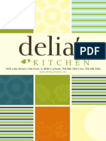 Delia's Kitchen Breakfast Lunch Menu - Oak Park, IL