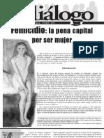 Femicidio La Pena Capital Por Ser Mujer