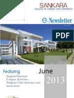 E-Newsletter, June-2013 Vol-1, Issue-1