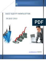 LATEST EQUITY MARKET NEWS by-The-Equicom for 30-july 2013
