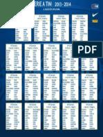 Calendario Serie a 2013-2014