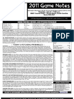 Myrtle Beach Pelicans Game Notes 7-21-2011