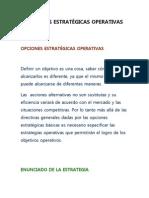 OPCIONES ESTRATÉGICAS OPERATIVAS