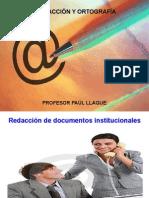 Redacción de informes técnicos (Paúl Llaque)