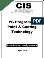 PG Program in Paint & Coating Technology-April-2013