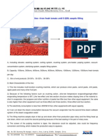 Tomato Paste Processing Line Catalogue
