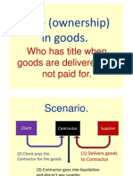 Title ownership in goods
