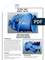 Check Valves with tilting disc