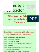 Claims by a Contractor