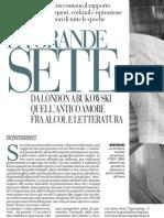 La Grande Sete. Rapporti Tra Alcol e Letteratura, Di Valerio Magrelli 30.07.2013