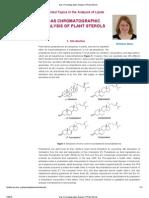Gas Chromatographic Analysis of Plant Sterols