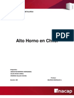 Informe de Metalurgia Alto Horno(1)
