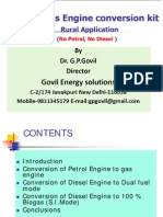 Small Biogas Engine Conversion Kit Rural Application