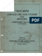 Triumph Herald 1200 1250 Vitesse And Spitfire Workshop Manual