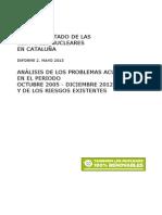 Informe sobre el estado de las centrales nucleares en Cataluña