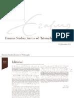Erasmus Student Journal of Philosophy #3 (2012)