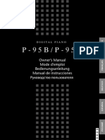 Yamaha P95 User Guide