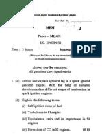 Mem (Paper - Me 601) (i.c. Engines)