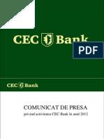 CEC Bank Conferinta Presa 27.05.2013