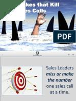 10 Mistakes That Kill Sales Calls