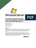 802.1X Wired Connexion PEAP-MSCHAPv2