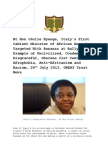 GREAT Trust News - Italian Integration Minister Rt Hon Cécile Kyenge Racism Row, 28th July 2013