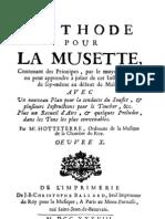 Méthode pour la Musette - Hotteterre