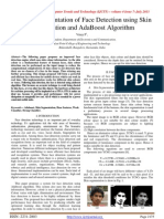 FPGA Implementation of Face Detection using Skin Segmentation and Ada Boost Algorithm