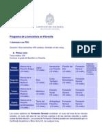 Programa de Estudios Licenciatura