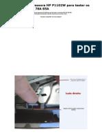 Adaptação da Impressora HP P1102W para testar os cartuchos 35A 36A 78A 85A