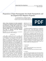 Preparation of Super Paramagnetic Iron Oxide Nanoparticles and Investigation their Magnetic Properties