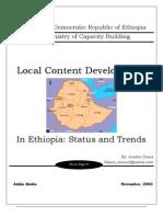 Ethiopia - 2003 - Local Content Development Status and Trends