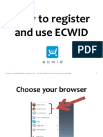 How to register and use Ecwid in your website or blog