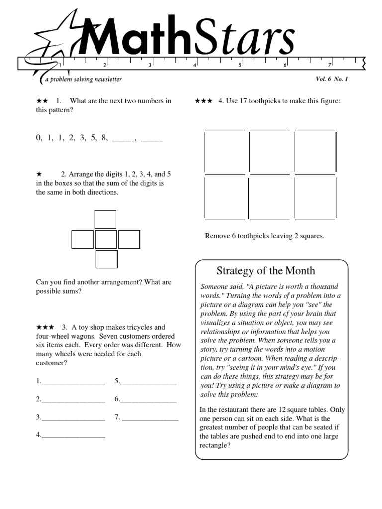Grade 6 Math Stars   Fraction (Mathematics)   Physics & Mathematics