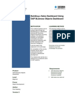 Building a Sales Dashboard Using SAP Xcelsius 2011